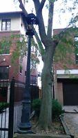 Vintage Victorian Cast Iron 12' Street Light Post, Black 2x