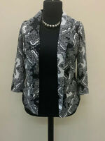 Redherring Blazer Jacket Monochrome Size 12 New With Tags Black White Patterned