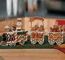 Adorable Christmas Theme Gingerbread Express Train Decorative Accent