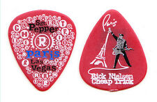 Cheap Trick Rick Nielsen Paris Las Vegas Red Guitar Pick - 2010 Tour