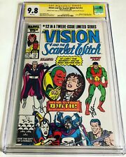 CGC SS 9.8 Vision and the Scarlet Witch v2 #12 signed by Bettany, Olsen & Serkis