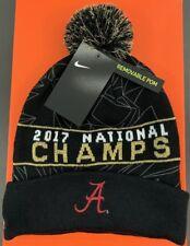Nike Alabama Crimson Tide 2017 NCAA Championship Pom Knit Beanie OSFM Hat f69cb1ca0654