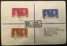 1937 King George VI Coronation Stamp Covers, Set of 45