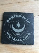 Portsmouth Football Club Slate Coaster Coffee Table Drinks Place Mat 10cm