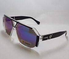 BioHazard Optics Sunglasses BLACK & CLEAR Heptagon Polygon Mirror Lens Men New