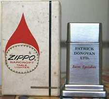 Très Rare ZIPPO BARCROFT No. 4 Patrick Donovan Ltd. Bacon SPECIAL 1960´s RAR!