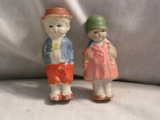 Vintage Made In Japan Boy And Girl Ceramic Dolls