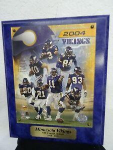2004 Minnesota Vikings Team Plaque Purple Randy Moss Kleinsasser Kevin Williams