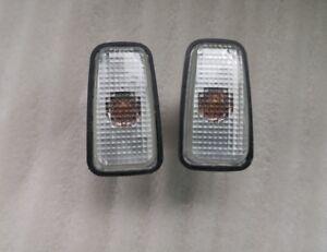 Pair Side Fender Lamp Light Signal Marker Clear for Peugeot 106 306 406 806