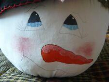More details for primitive table centre piece snowman head with hat