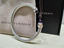 DAVID YURMAN Womens Cable Classic Bracelet with Amethyst & 14K Gold 5mm