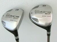 King Cobra SZ Offset 3 + 5 Fairway Woods Aldila  Graphite Lite Flex Right Handed