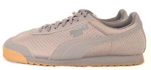 Puma 362179 Roma TriEmboss Gray Stamped Nylon T-Toe Athletic Sneaker shoe Mens 9