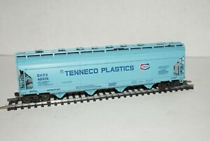 Ho Scale Tenneco Plastics SHPX46478 55' ACF Covered Hopper Car