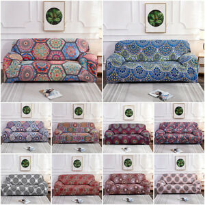 1/2/3/4 Seater Stretch Mandala Sofa Covers Slipcover Settee Boho Couch Protector