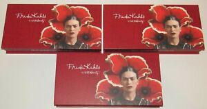 3 Ulta Frida Kahlo Keepsake Box Storage Signature Collector's Red EMPTY Lot Set