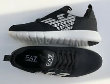 EMPORIO ARMANI EA7 Black Trainers Sneakers Shoes Large Logo UK 5.5-11.5 BNWT/BOX