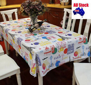 Thick Quality 137x200cm Rectangle Plastic Vinyl TableCloth Cover Oil waterproof