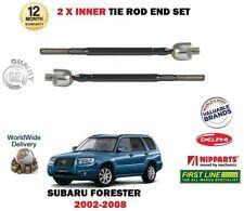FOR SUBARU FORSTER 2002-2008 NEW 2x INNER STEERING TRACK RACK TIE ROD END