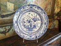 Antique English Minton Semi China Blue & White Dresden Plate Circa 1825