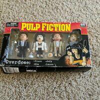 NECA 4 Mini Figure Set Pulp Fiction Overdose New  2004 Vince Mia Jody Lance