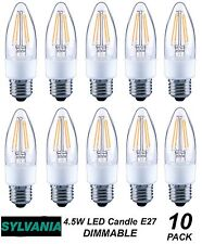 10 x LED 4W DIMMABLE Vintage Candle Filament Light Globes Bulbs E27 Screw