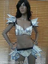 Samba Lady Gaga Mirror Hip-Pieces - 2 Pieces ! Costumes OUTFIT Brazilian Dress