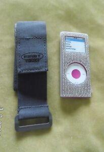 IXOS White/Clear Silicone Diamante skin with armband for ipod nano 2nd gen