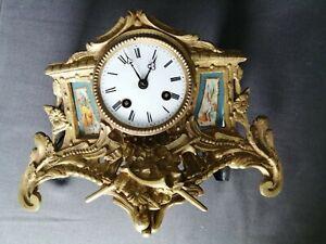 mouvement de pendule horloge ancienne socle bronze