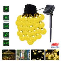 6.5M LED Solar String Ball Lights Outdoor Garden Yard Decor Lamp Waterproof USA