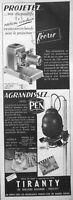 PUBLICITÉ DE PRESSE 1954 TIRANTY PROJECTEUR FÉERIE ET PEN AGRANDISSEUR - CHAT