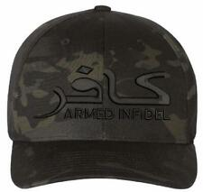 Armed Infidel Embroidered Flex fit or Adjustable Ball Cap - Various Options