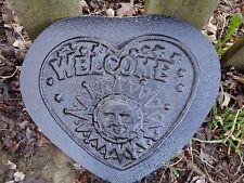 Welcome sun plaque plastic mold concrete plaster casting mould