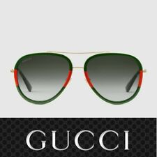 ✔️ New  Authentic Gucci Sunglasses GG0062S 003 Gold/Green Gradient Lens 57mm