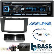 Alpine Single Din CD MP3 DAB Bluetooth USB Car Stereo Kit For Suzuki Swift 10-17