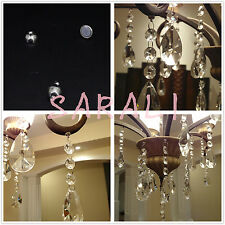 10 PCS SILVER 10 MM HANGING MAGNETS FOR DECORATING CRYSTAL CHANDELIER JEWELRY