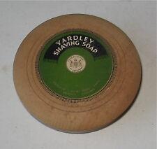 VINTAGE YARDLEY SHAVING SOAP BARBER SHOP WOODEN ADVERTISING PAPER LABEL