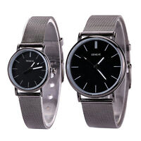 Fashion New Womens Mens Stainless Steel Watches Retro Quartz Analog Wrist Watch