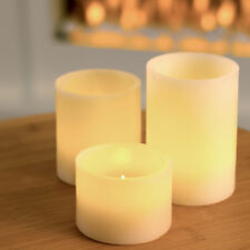 Set Of 3 Vanilla Scented LED Candles