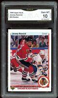1990 Upper Deck #63 Jeremy Roenick RC Rookie Graded GMA 10 GEM MINT
