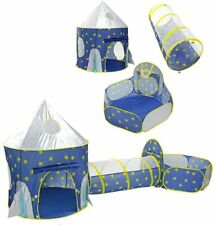 3 In 1 Play Tent Kids Toddlers Crawl Tunnel Pop Up Playhouse Ball Pit Play Tent