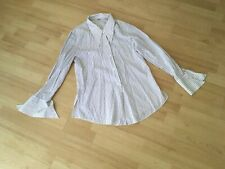 VINTAGE 60's LADIES STRIPED POLYESTER SHIRT/BLOUSE SIZE 16