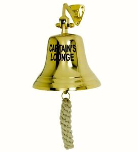 Bell Solid Brass * CAPTAINS LOUNGE * Bell