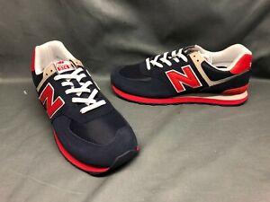 New Balance Men's 574 Running Sneakers ML574MUA Navy Red White Size 13 NWOB!