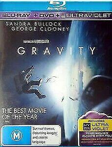 Gravity Blu Ray + DVD (Pal, 2014, 2 Disc Set) Free Post