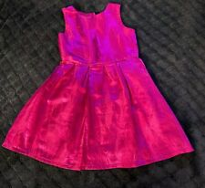Girls Fuschia Colored Dressy Dress Sz 8 Cut Out Back