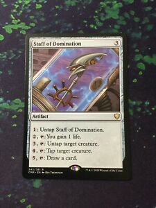 MTG, Staff of Domination. Commander Legends Rare NM