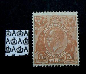 SG103a - Australia 1930 5d Orange Brown Five Pence 5d Mint Stamp - KGV - 381a