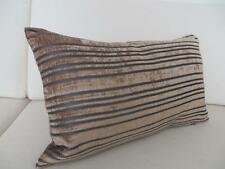 Velvet Striped Contemporary Decorative Cushions & Pillows