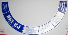 Ford or Mustang 351 CJ Motorcraft  Air Cleaner  Decal  #365
